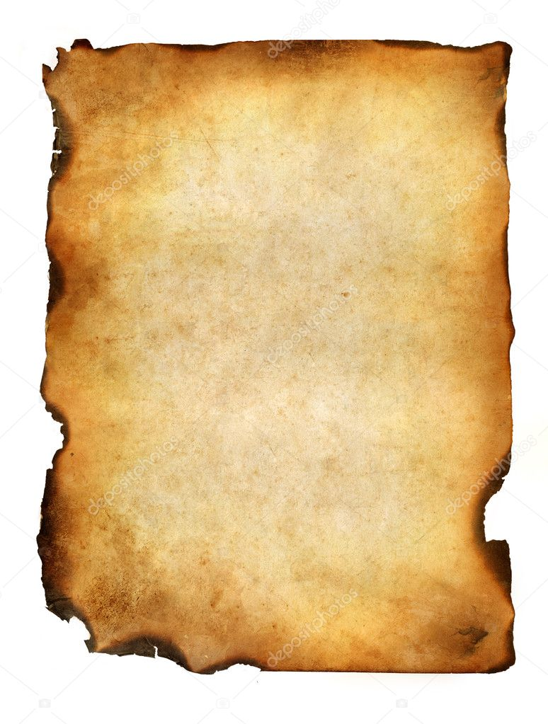 Blank grunge burnt paper with dark adust borders