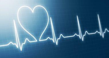Abstract heart beats cardiogram stock vector