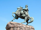 Památník slavných ukrajinský bogdan Chmelnickij hethman v Kyjevě