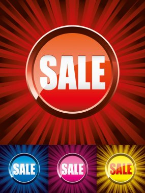 Colorful Sale buttons