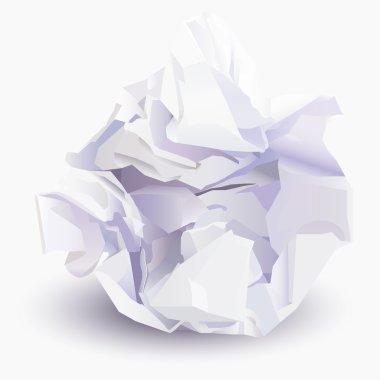 Paper ball, vector illustration