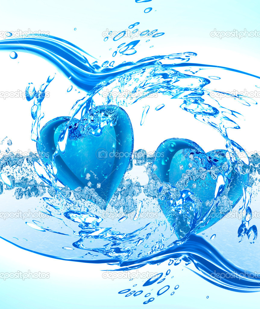 Two hearts from water