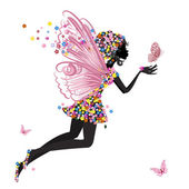 Photo Flower Fairy with butterfly
