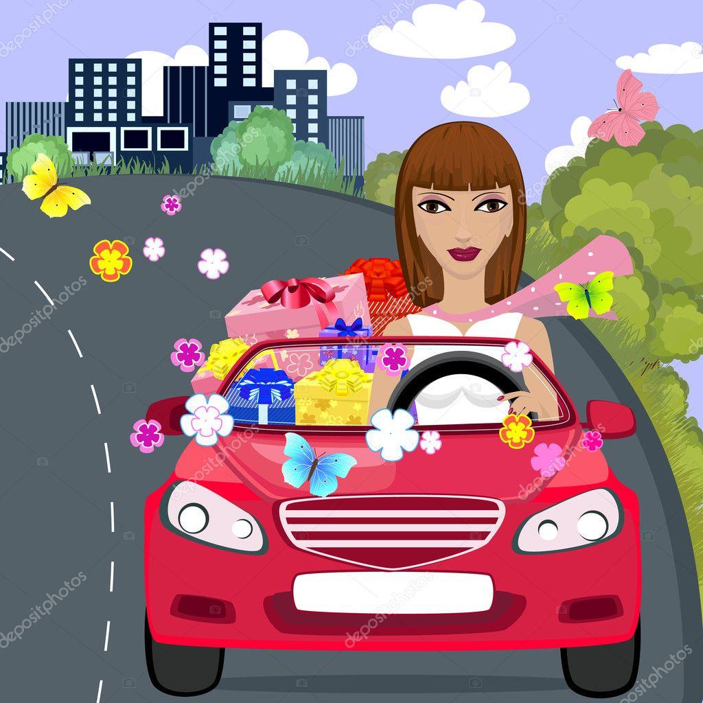 Поздравление с покупкой машины прикольные женщине картинки, лет русском