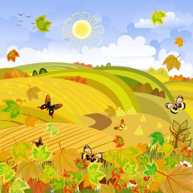 Autumn Landscape rural expanses
