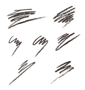 Eye liner or cosmetic pencil strokes