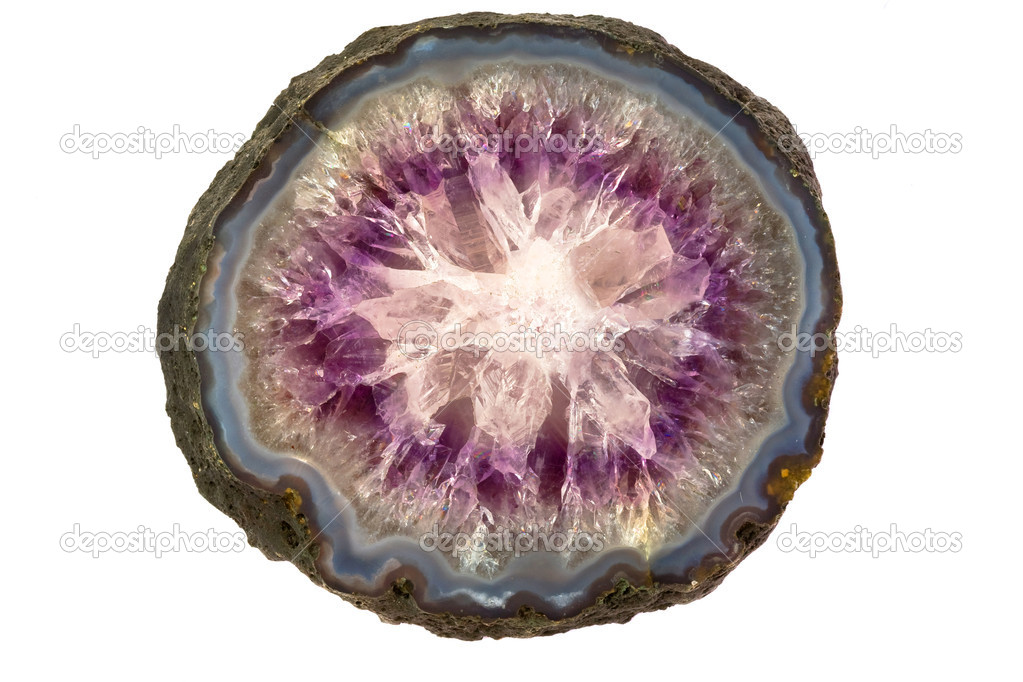 Amethyst stone structure