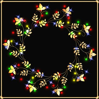 Golden garland with stars