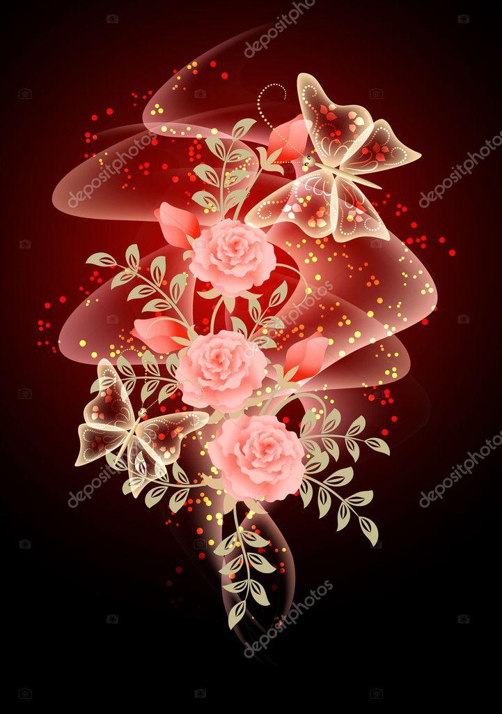 Smoke, flowers and stars