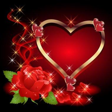 Heart, roses, smoke and stars