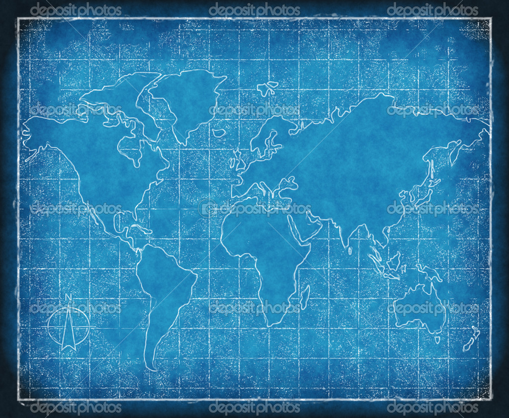 map of the world blueprint  u2014 stock photo  u00a9 clearviewstock