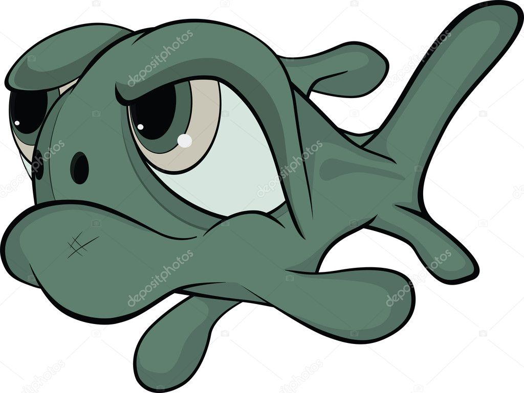 Deep-water fish. . Cartoon — Stock Vector © liusaart #5530516