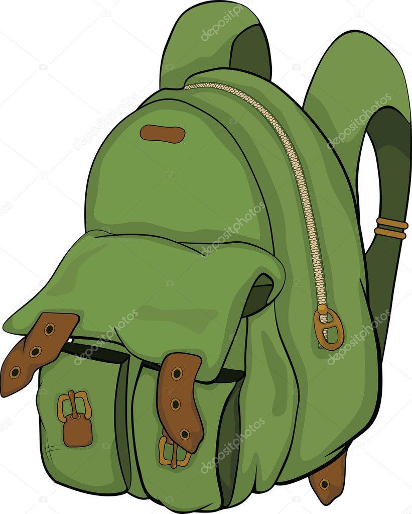 4b219152eb školní batoh. kreslený — Stock Vektor © liusaart  6268678