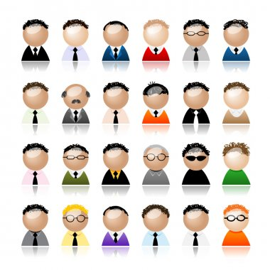 Set of business men peoples icons, cartoon for your design