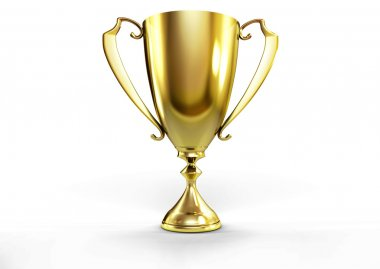 Golden trophy