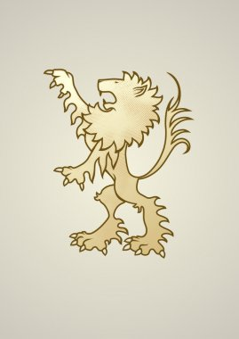 Ancient coat of arms lion