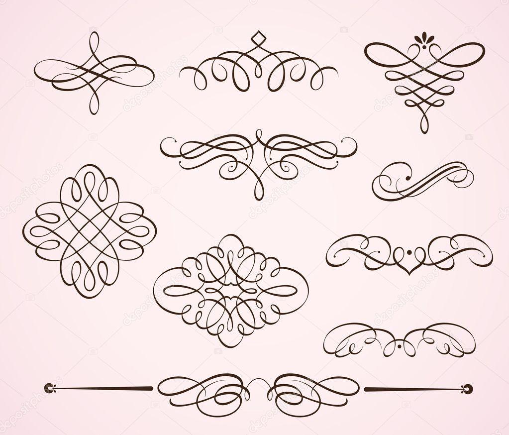 Swirling flourishes elements
