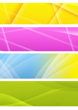 Collection of abstract banners. Isolated over white stock vector