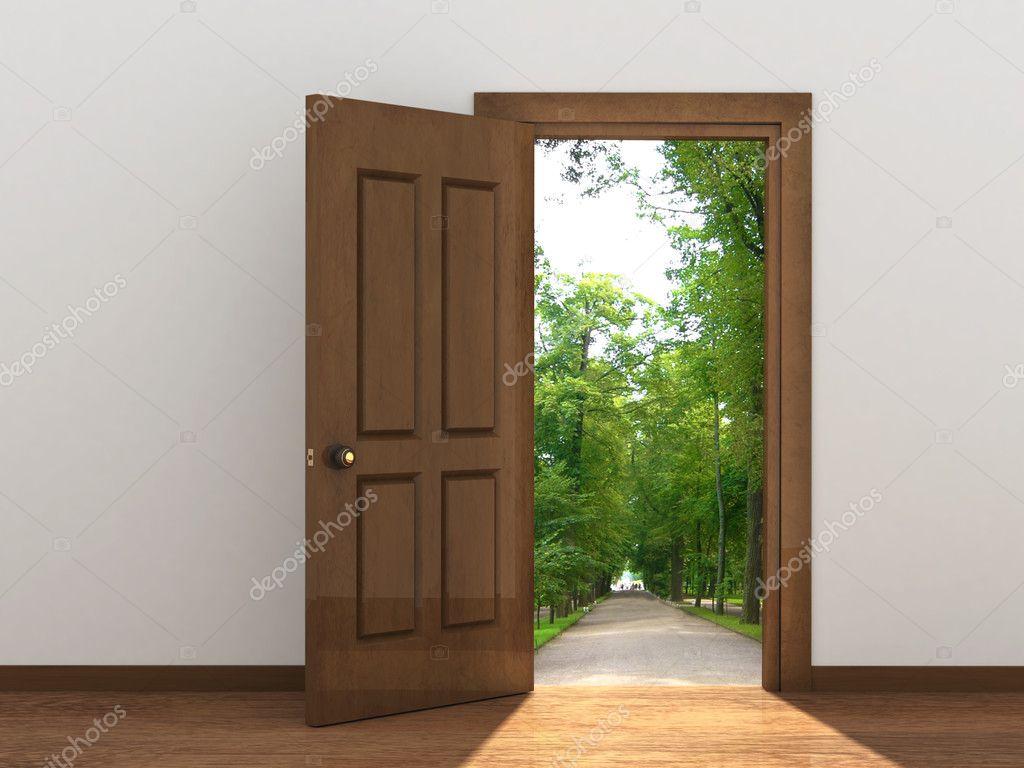 Open door stock photo frenta 5638521 for 0pen door
