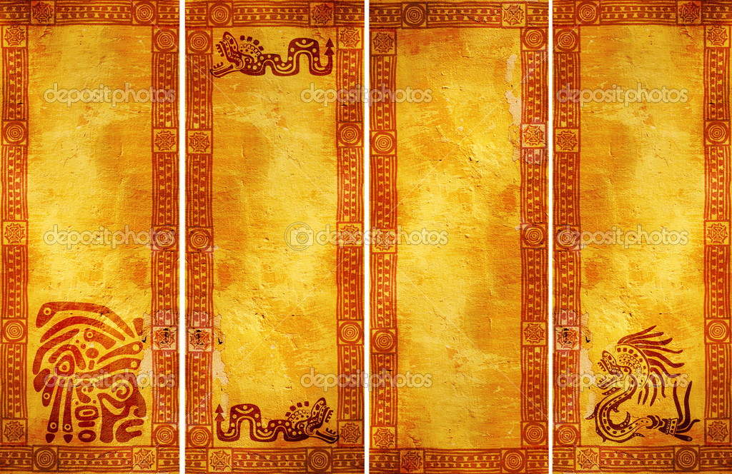 Banners with American Indian traditional patterns