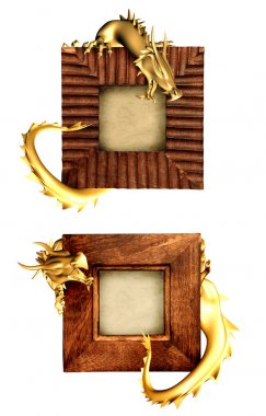 Dragons and wooden frames