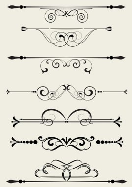 Set of design elements in vintage style vectorized stock vector
