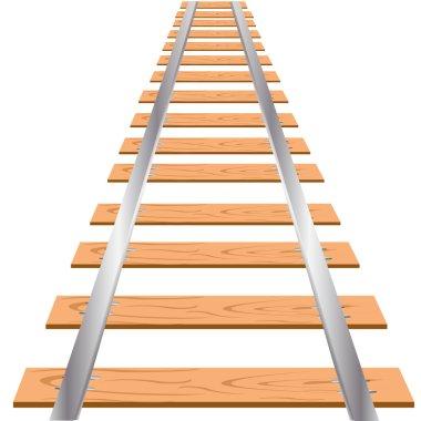 Railway on white background
