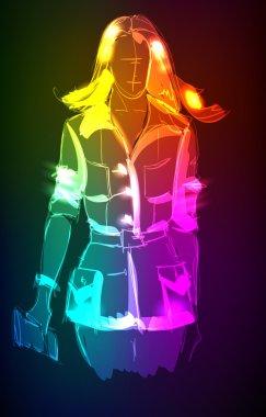 A light girl's