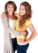 Fotografie Mutter und Tochter, umarmen einander