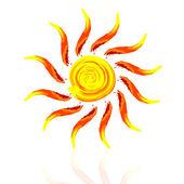 abstrakte Sonne