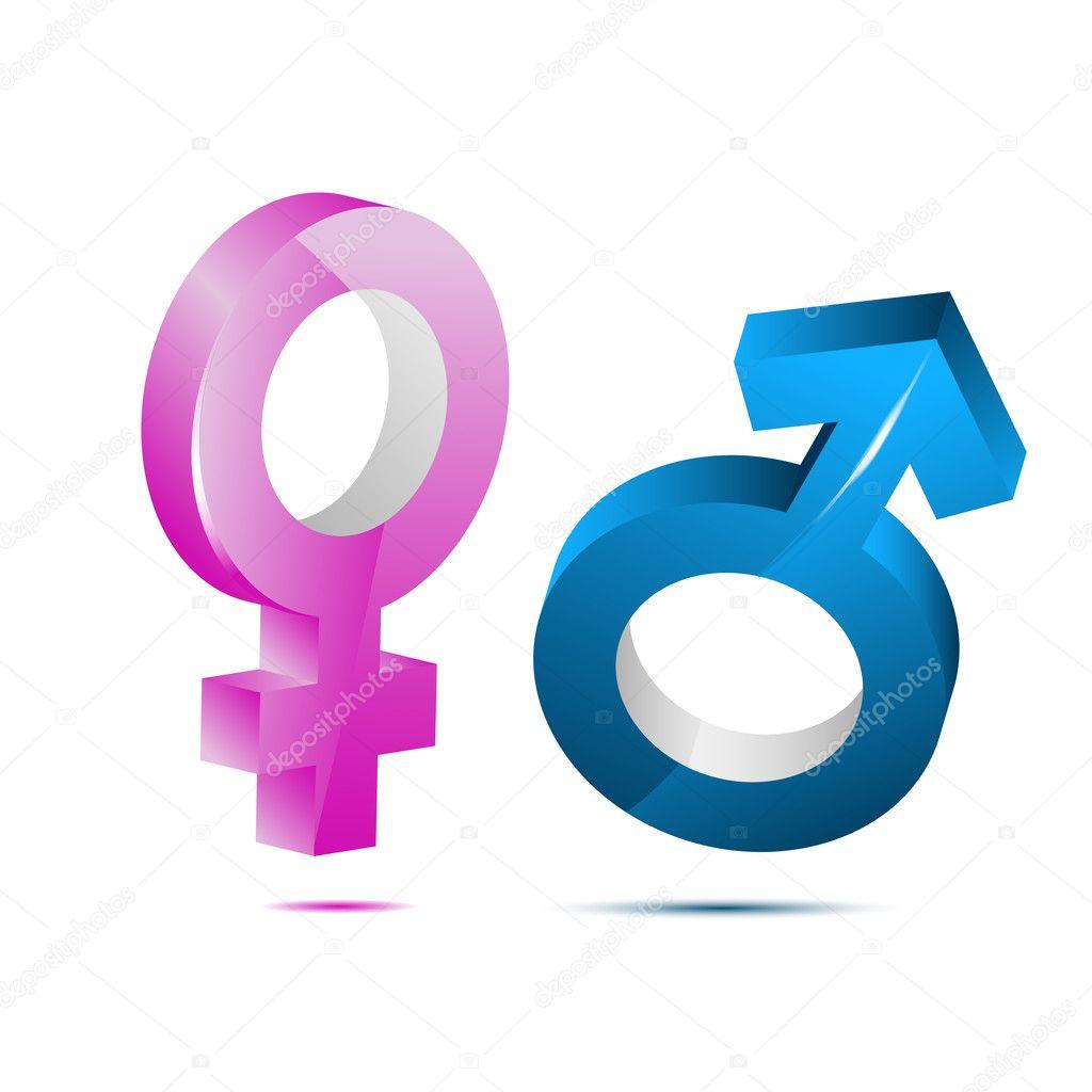 Männliche weibliche Ikone — Stockfoto © get4net #5962393