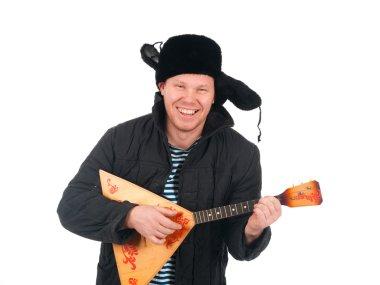 Russian man with balalaika