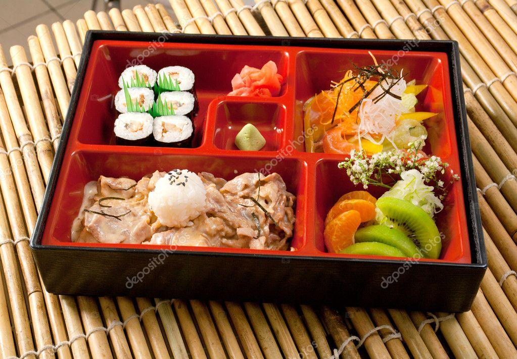 japanese bento lunch stock photo fanfon 6029558. Black Bedroom Furniture Sets. Home Design Ideas