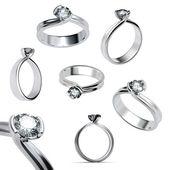 prsten s diamantem, samostatný