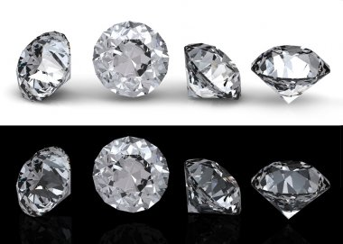 Collection of round diamond