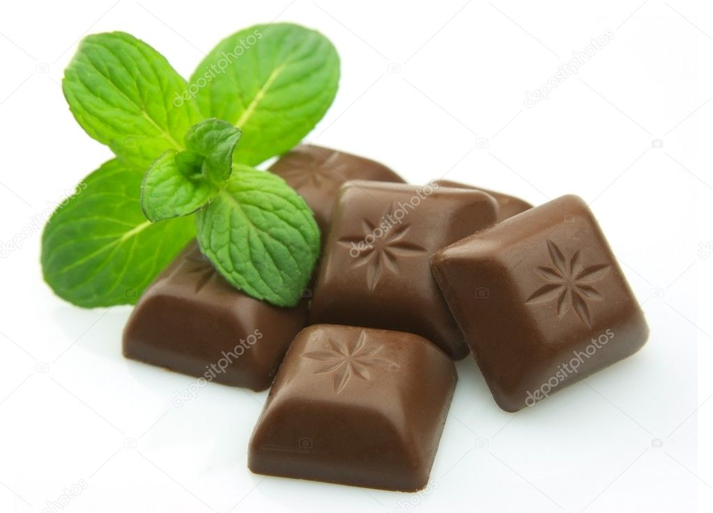 Chocolate bar with mint