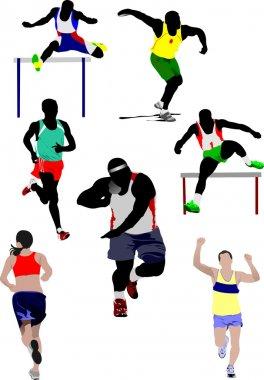 Set of some kinds of athletics illustration
