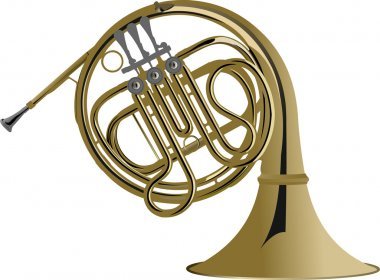 Music Instrument Series illustration of a french horn.
