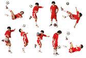 Fotografie chlapec s fotbalovým míčem, fotbalista