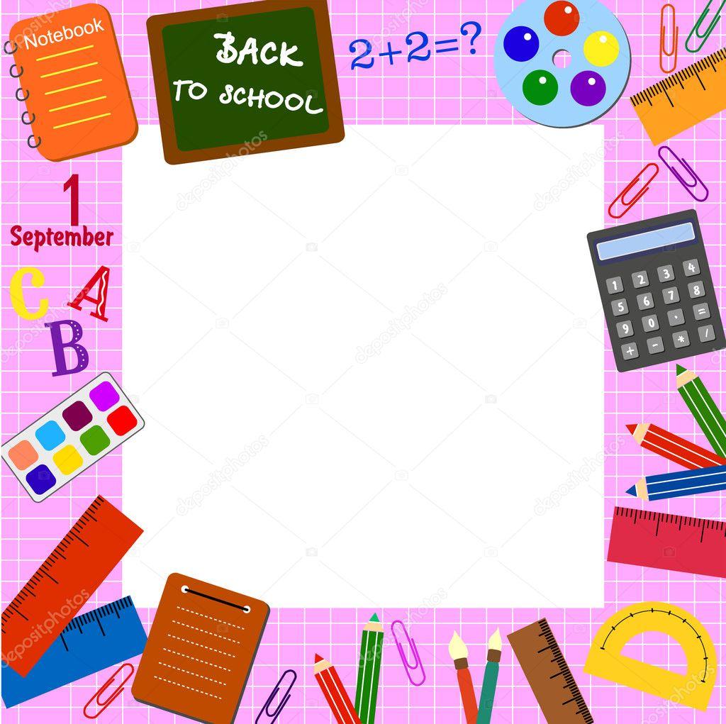 School frame — Stock Vector © jenny1900 #6675070