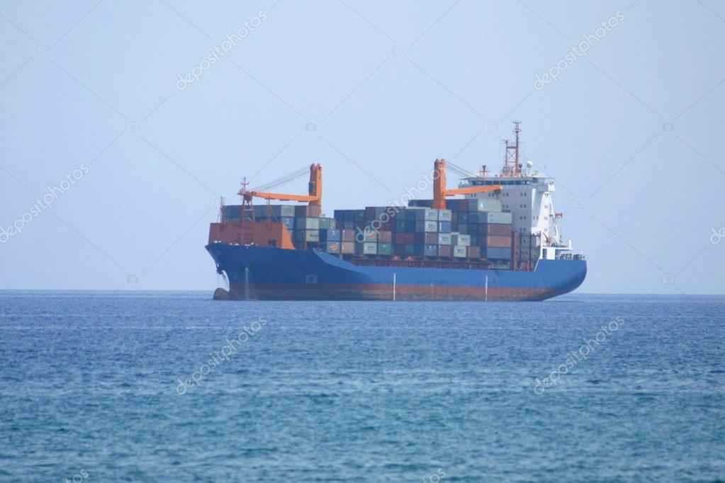 Tanker in Mediterranean sea