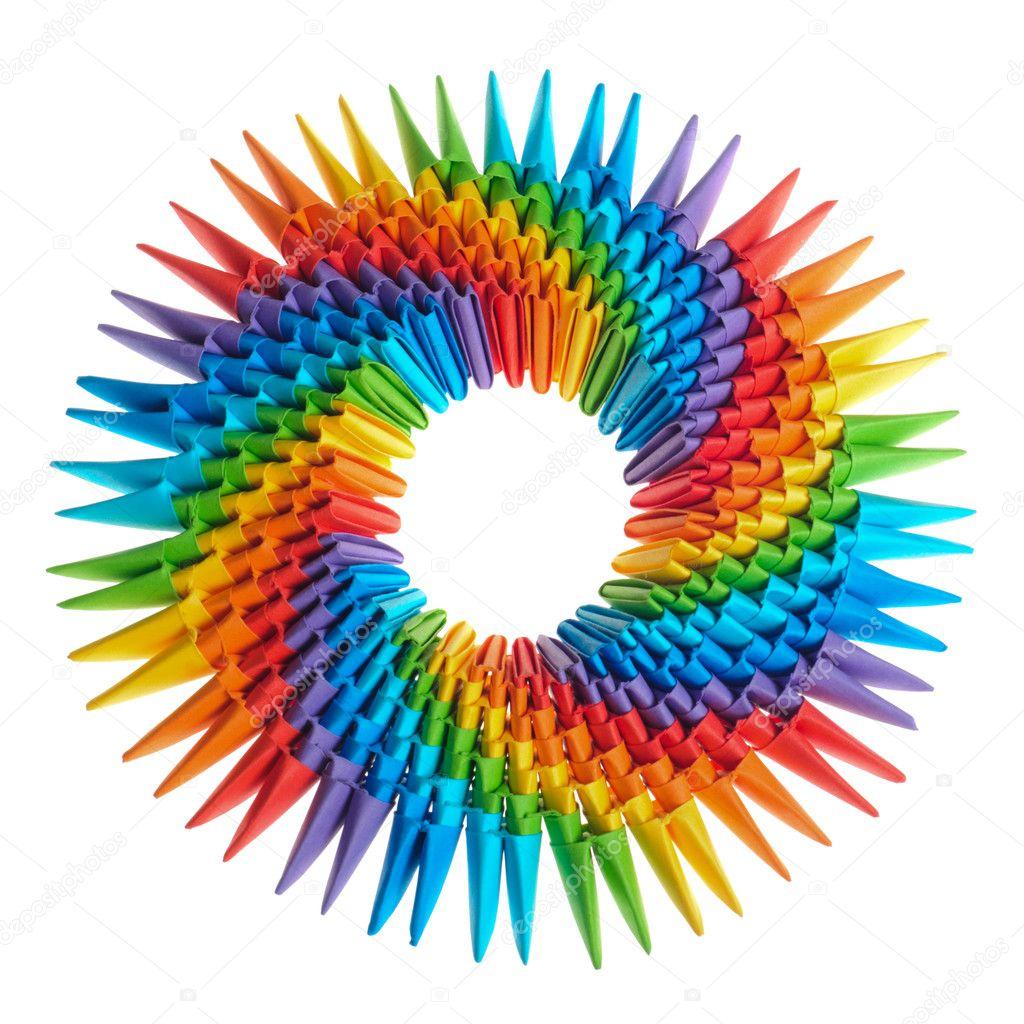 origami rainbow 3d stock photo 169 oksixx 6254384