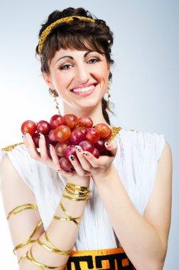 Portrait of beautiful woman greek styled