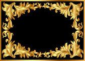 Photo Illustration background pattern frame from gild