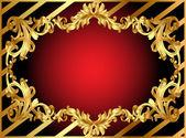 Goldrahmen mit Muster und Band