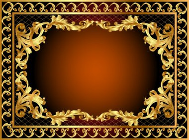 Gold frame with pattern and band