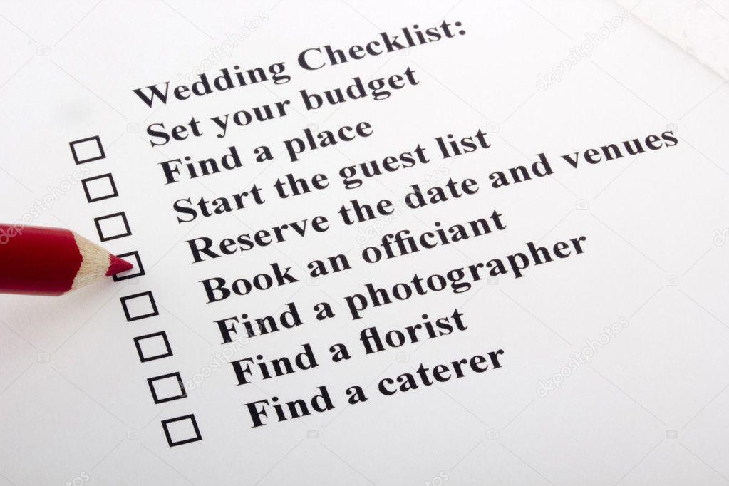 結婚式のチェックリスト ストック写真 vipdesignusa 5703901