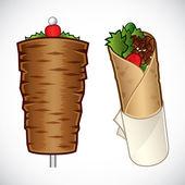 Fotografie kebab ilustrace