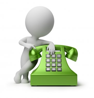3d small - call by telephone