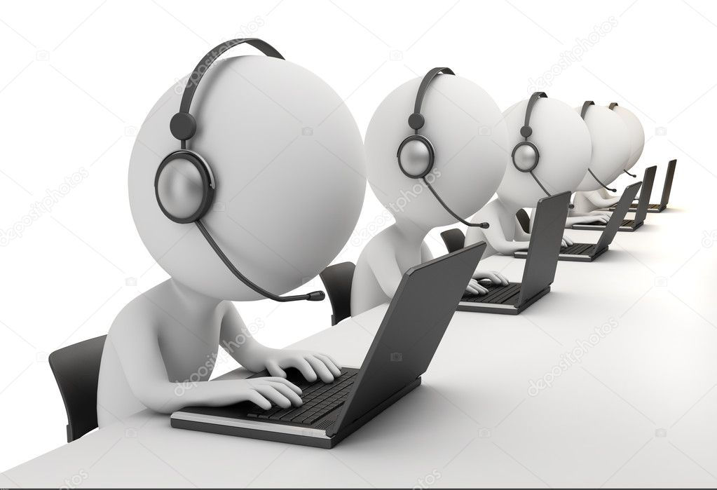 3d small - call center